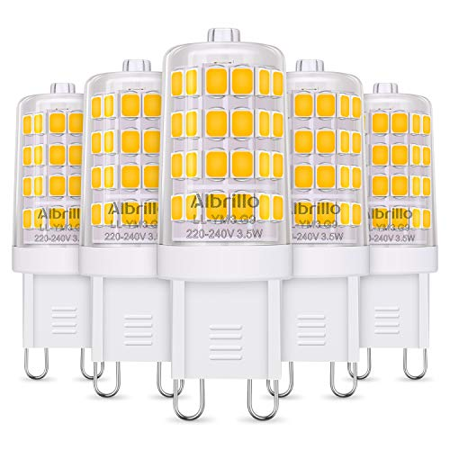 Albrillo 5er Pack 3.5W G9 LED Lampe 400 Lumen,...