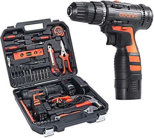 AWANFI Werkzeugkoffer mit Akkuschrauber 35PCs...