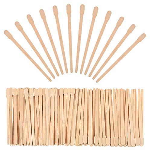 500 Packung Wachs Spatel Holz Handwerk Sticks...