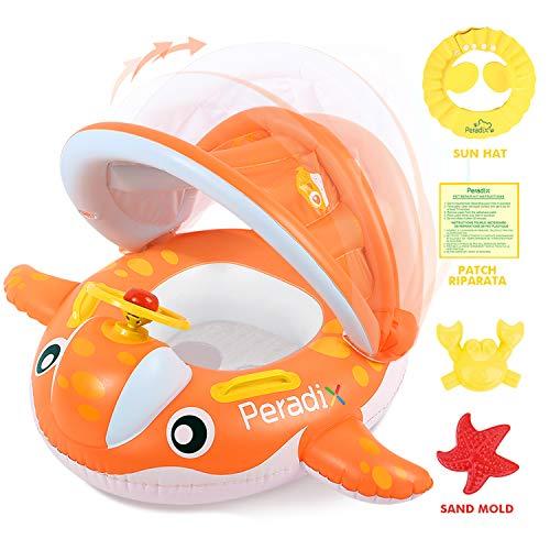 Peradix Baby Schwimmring mit Sonnendach...