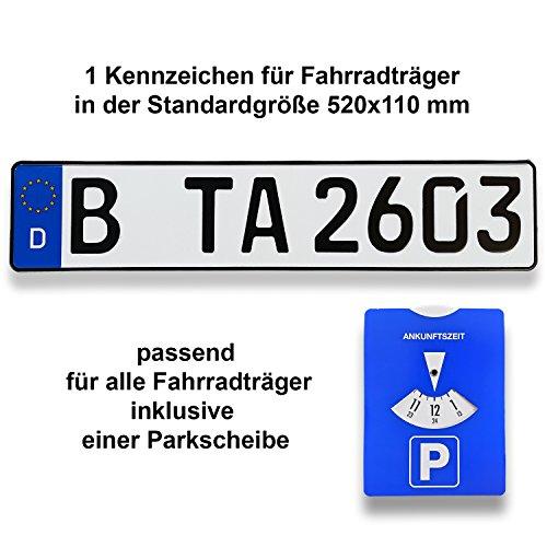 TA TradeArea 1 Fahrradträger Kennzeichen  ...
