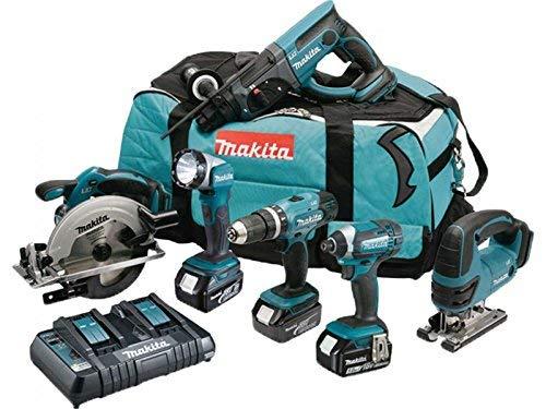 MAKITA Pack 6 machines DLX6068PT avec 3 batteries...