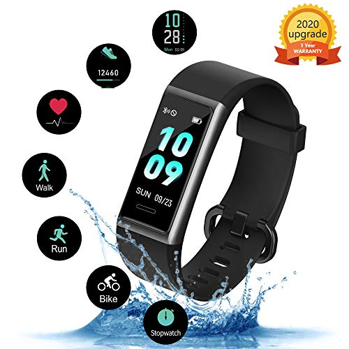 Kungix Fitness Armband, IP68 Wasserdichtes Fitness...