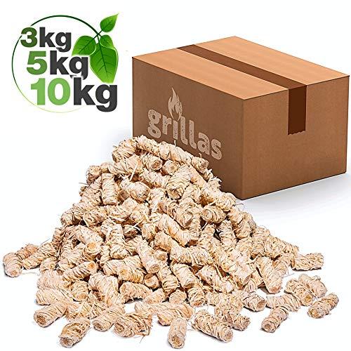grillas Bio-Kaminanzünder 10,0 kg aus Holzwolle,...