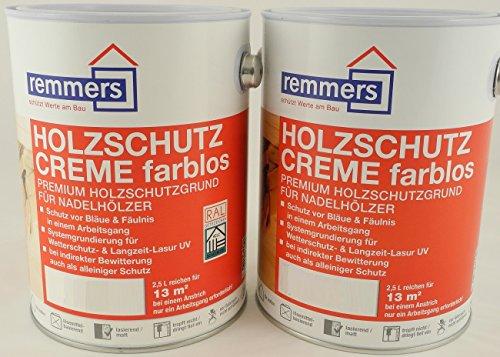 Spar-Set 2x Remmers Aidol Holzschutz-Creme weiß...