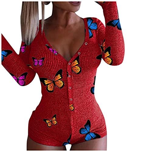 BIBOKAOKE Bodysuit Damen Sexy öffnung Langarm...