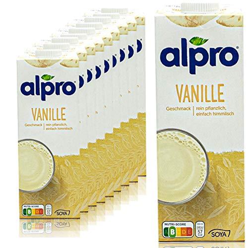 Alpro - 10er Pack Sojadrink Vanille 1 Liter - Soja...
