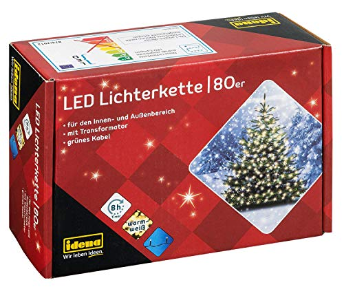 Idena 8325058 - LED Lichterkette mit 80 LED in...