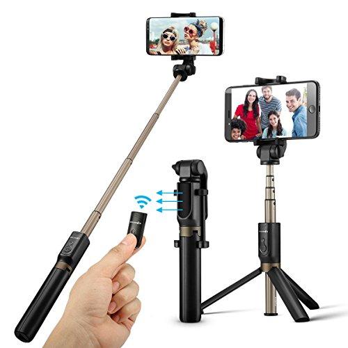 BlitzWolf Bluetooth Selfie Stick Stativ, 3 in 1...