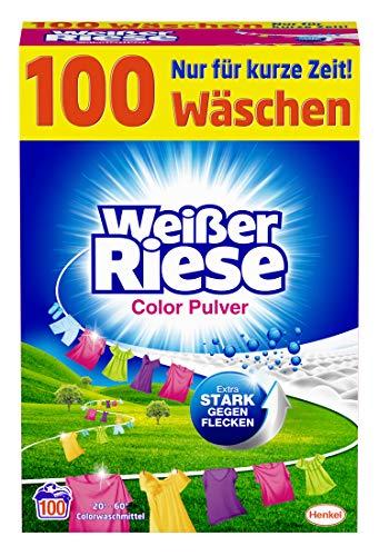 Weißer Riese Color Pulver, Colorwaschmittel, 100...