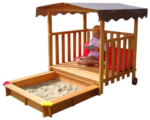 GASPO Spielhaus für Kinder, Sandkasten aus Holz...