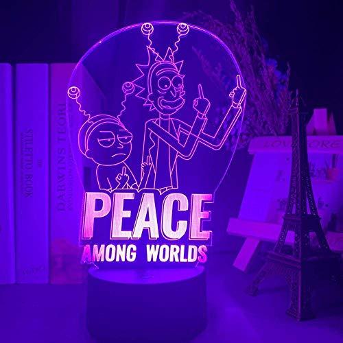 Rick Und Morty Frieden Unter Den Welten Figur Led...