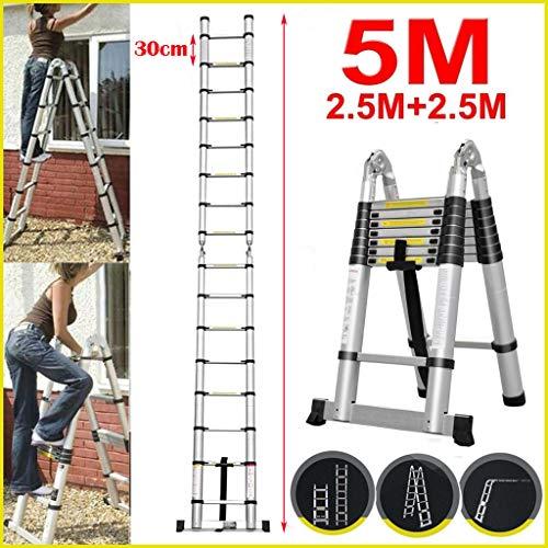 5M Teleskopleiter ausziehbare Leiter Aluleiter...
