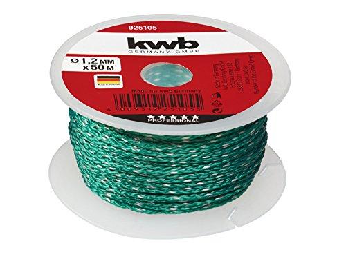 kwb 9251-05 Maurerschnur 50 Meter, 1,2 mm, grün