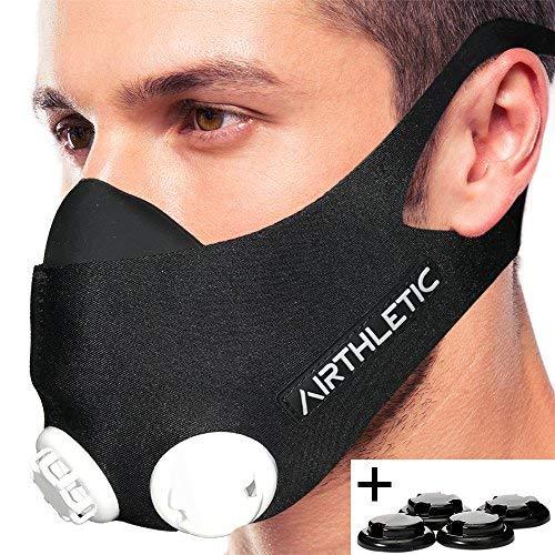 AIRTHLETIC AtemmaskeTraining Mask mit 12...
