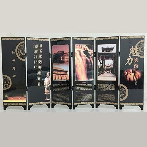 Quskto Kleine Folding Screen, 6-Panel-asiatisch...
