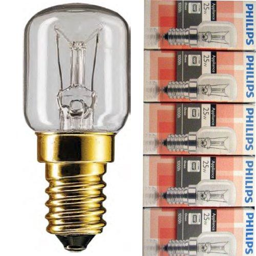 5 Stück Philips Appliance Backofenlampe T25 25W...