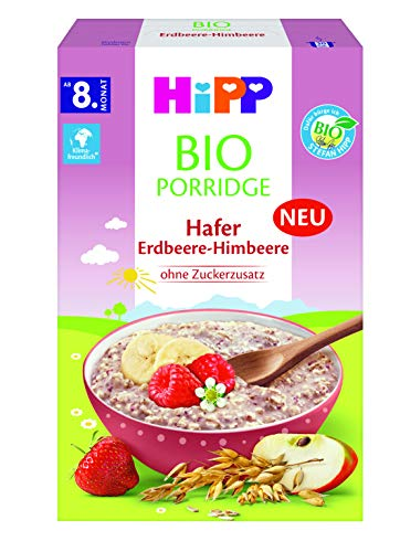 Hipp Bio-Müesli Porridge Hafer Erdbeere-Himbeere,...