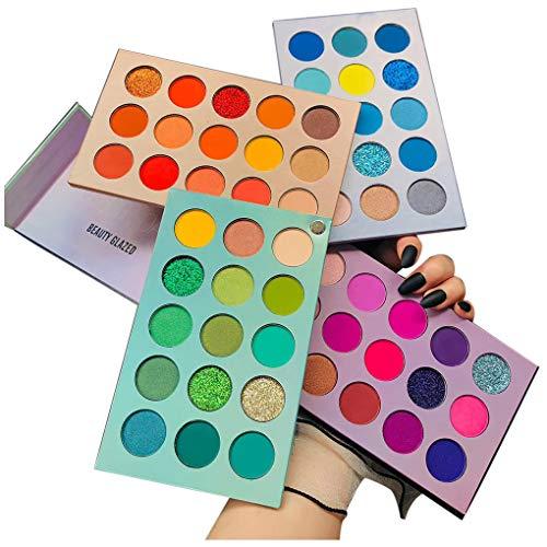 Beauty Glazed 60 Farben Lidschatten Palette Bunt...