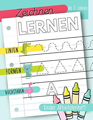 Zeichnen lernen: Linien Formen Buchstaben: Kinder...