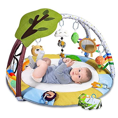 Krabbeldecke für Baby mit 9 Spielzeug, Lupantte...