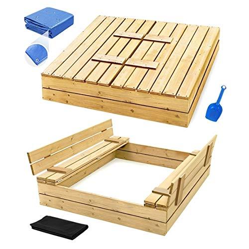 Sandkasten mit Deckel Sandbox 120x120 150x150...