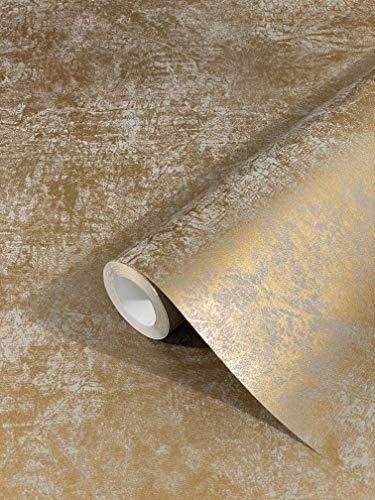 marburg Tapete Gold Uni Modern, Klassisch, Opulent...