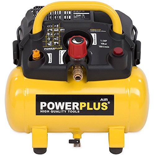 Powerplus kraftvoller Druckluft Kompressor 1.100...