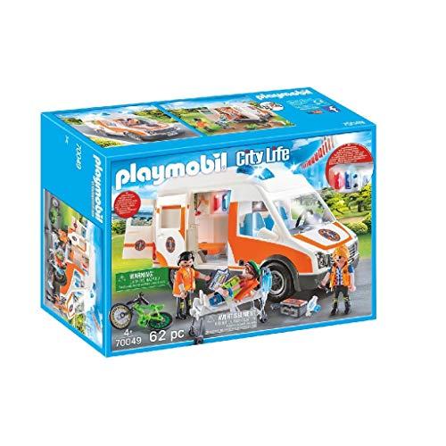 Playmobil City Life 70049 Rettungswagen mit Licht...
