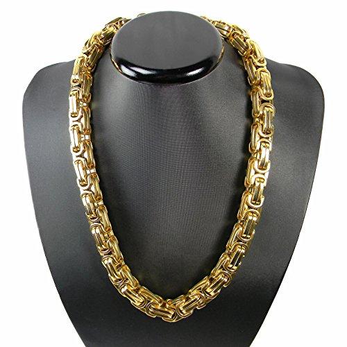 Kaiser-Handel Luxus Königskette Gold Farbe BRUTAL...