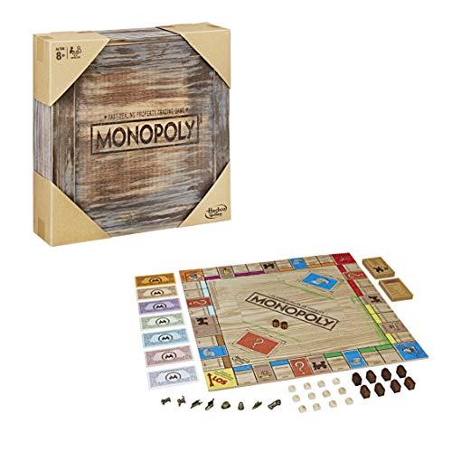 Monopoly Rustic, Sonderedition aus Holz, der...