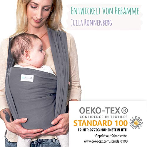 Mammacita Tragetuch Baby aus OEKO-TEX Baumwolle -...