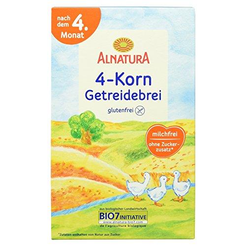 Alnatura Bio 4-Korn-Getreidebrei, glutenfrei, 6er...