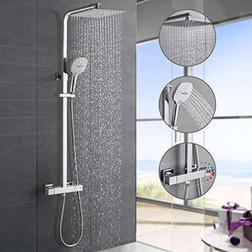 Hochwertiges Duschsystem mit Thermostat, WOOHSE...