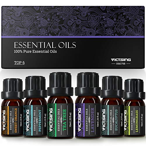 VicTsing Ätherische Öle Set (6x10ml), Essential...