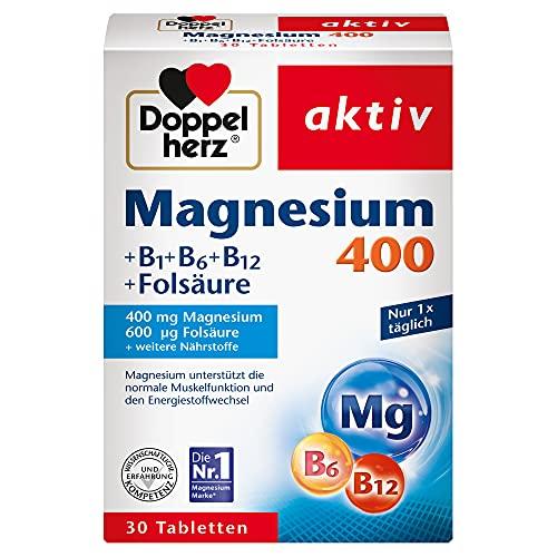 Doppelherz Magnesium 400 + B1 + B6 + B12 +...