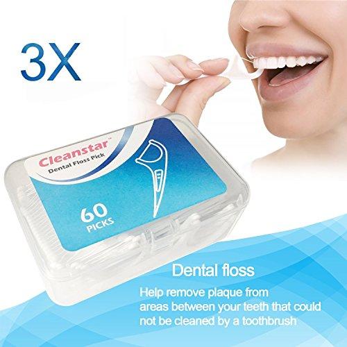 Zahnseide,Dental Floss, 180 Stück Weiß...