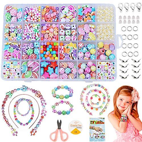 Perlen zum Auffädeln, DIY Perlen Set Armbänder...