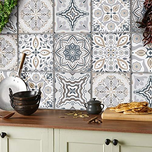 24 stück Mosaik Bodenaufkleber Wandfliese...