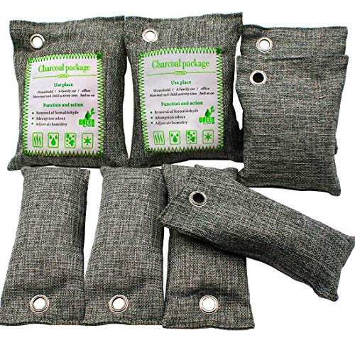 Lufterfrischer Beutel,Bambuskohle 8 Pack Natur...