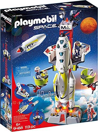 PLAYMOBIL Space 9488 Mars-Rakete mit Startrampe,...