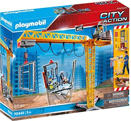 PLAYMOBIL City Action 70441 RC-Baukran mit...