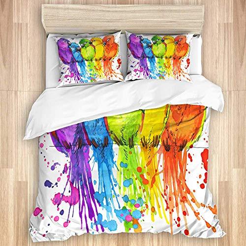 3-teiliges Bettbezug-Set, lustige...