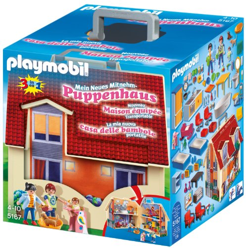 PLAYMOBIL Dollhouse 5167 Neues Mitnehm-Puppenhaus,...