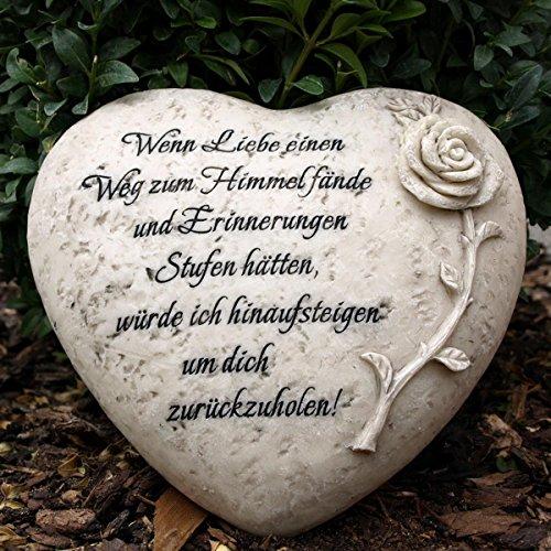 Grabherz mit Inschrift - Wenn Liebe einen Weg zum...