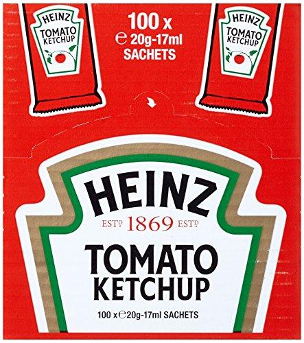 Heinz Tomato Ketchup, Portsionsbeutel, 100er Pack...