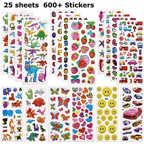 Willingood 3D Sticker Aufkleber Set für Kinder...