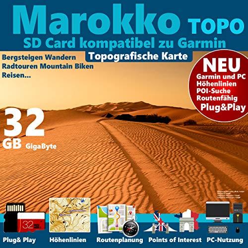 Marokko Morocco Topo GPS Karte GB microSD Card...